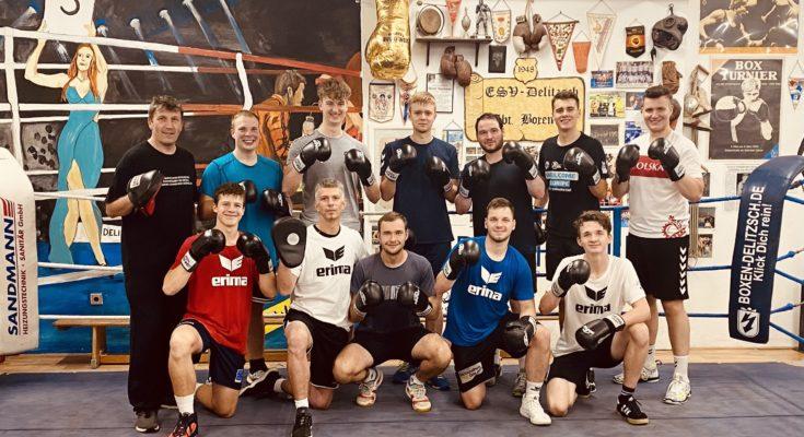 Auch die mittlerweile schon traditionelle Boxeinheit beim Delitzscher Boxring durfte in der Saisonvorbereitung nicht fehlen.